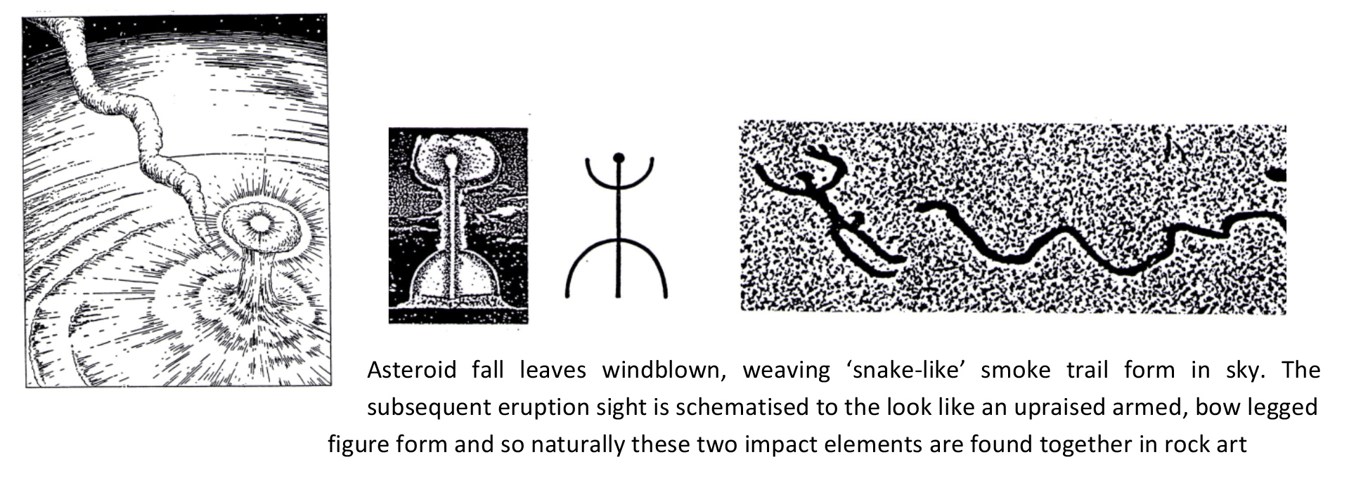 The snake asteroid impact mythology the snake in the sky eruption found together in rock art biocorpaavc Image collections