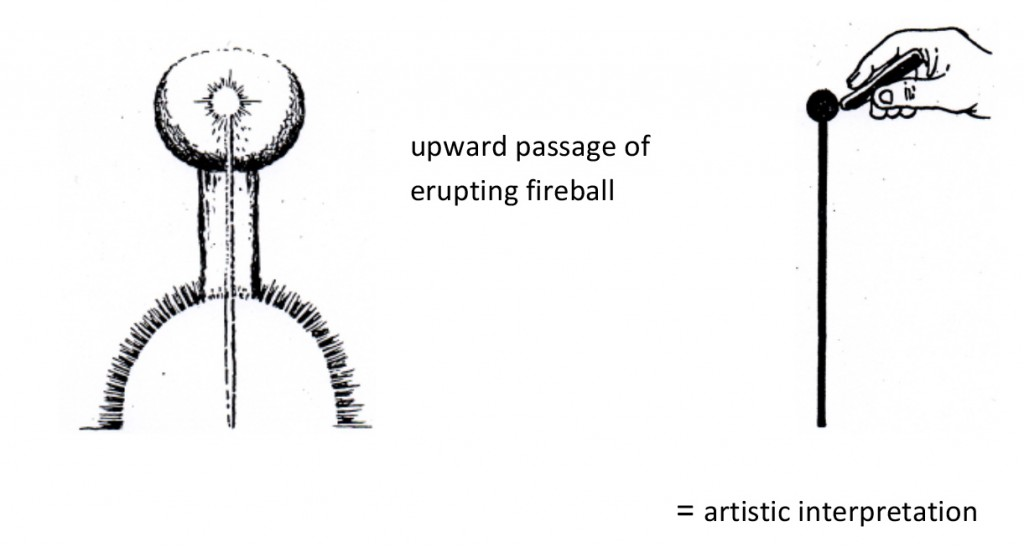Artistic interpretation of the erupting fireball