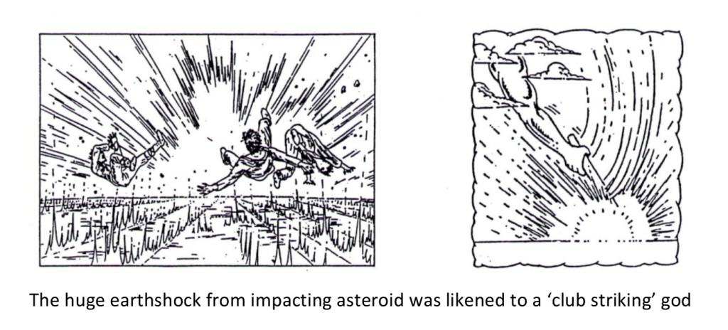 Earthshock from impacting asteroid